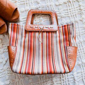 Fossil • Vintage Inspired Leather Colorful Handbag